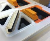 ゴムを抜くための木型・抜き型を製造します
