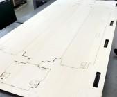 樹脂(厚もの)を抜くための木型・抜き型を製造します
