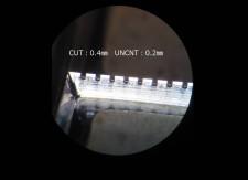 高い寸法精度の形状でミシンカット加工も可能な腐食刃「クロムダイ」
